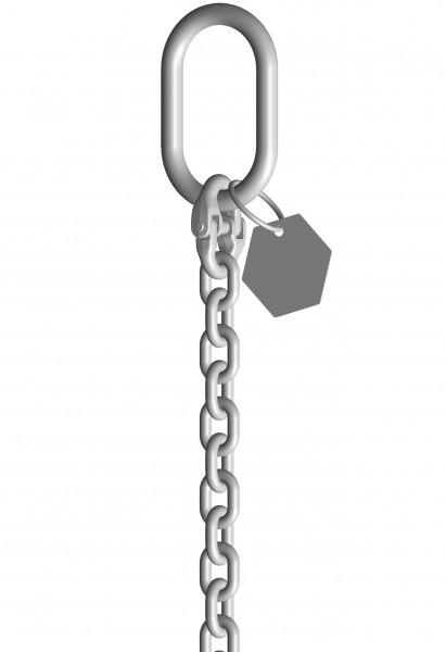 INOX-1-Strang-Anschlagketten mit Ösenhaken