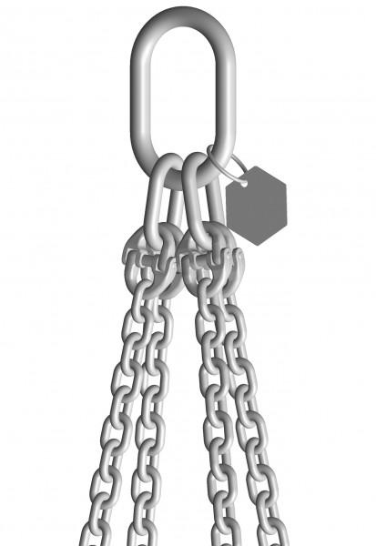 INOX-4-Strang-Anschlagketten mit Ösenhaken