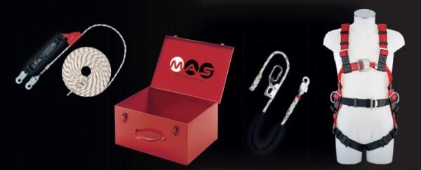 PSA Sicherheitsset mit Auffanggurt MAS 60 Economie und Auffanggerät