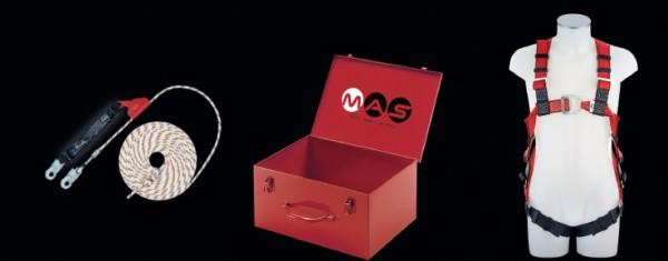 PSA Sicherheitsset mit Auffanggurt MAS 30 und Auffanggerät MAS SK 12