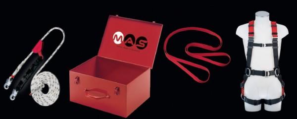 PSA Sicherheitsset mit Auffanggurt MAS 90 und Auffanggerät