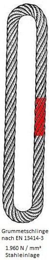 SIDRAflex Grummetschlinge - Stahleinlage