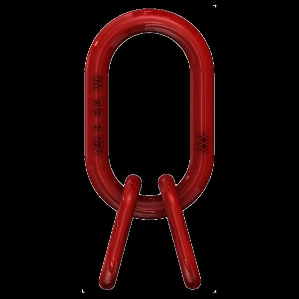 3/4-Strang Aufhängering, Güteklasse 8, rot lackiert