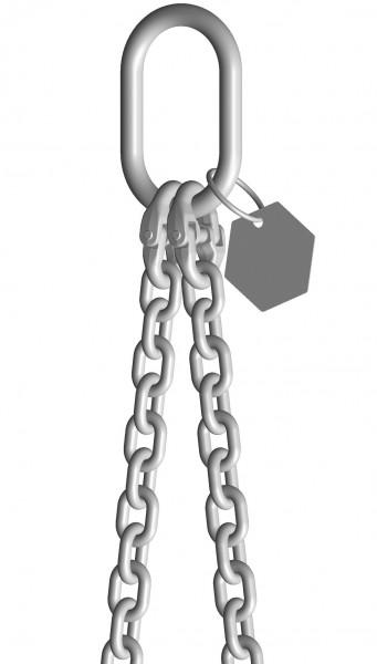 INOX-2-Strang-Anschlagketten mit Ösenhaken